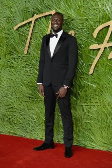 LONDON, ENGLAND - DECEMBER 04: Stormzy attends The Fashion Awards 2017 in partnership with Swarovski at Royal Albert Hall on December 4, 2017 in London, England. (Photo by Jeff Spicer/BFC/Getty Images)