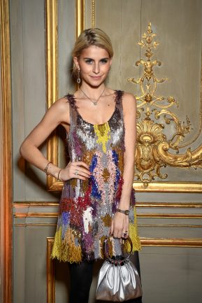 PARIS, FRANCE - JANUARY 24: Caroline Daur attends the Cocktail & Dinner for the new Pomellato campaign launch with Chiara Ferragni as part of Paris Fashion Week during Haute-Couture Spring/Summer 2018 at Ambassade d'Italie on January 24, 2018 in Paris, France. (Photo by Venturelli/Getty Images for Pomellato)
