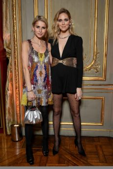 PARIS, FRANCE - JANUARY 24: Chiara Ferragni and Caroline Daur attend the Cocktail & Dinner for the new Pomellato campaign launch with Chiara Ferragni as part of Paris Fashion Week during Haute-Couture Spring/Summer 2018 at Ambassade d'Italie on January 24, 2018 in Paris, France. (Photo by Venturelli/Getty Images for Pomellato)