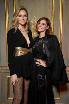 PARIS, FRANCE - JANUARY 24: Chiara Ferragni and S .A .R Princesse Clotilde Di Savoia attend the Cocktail & Dinner for the new Pomellato campaign launch with Chiara Ferragni as part of Paris Fashion Week during Haute-Couture Spring/Summer 2018 at Ambassade d'Italie on January 24, 2018 in Paris, France. (Photo by Venturelli/Getty Images for Pomellato)