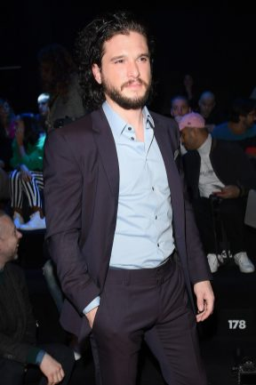MILAN, ITALY - JANUARY 13: Kit Harington attends the Dolce & Gabbana show during Milan Men's Fashion Week Fall/Winter 2018/19 on January 13, 2018 in Milan, Italy. (Photo by Venturelli/Getty Images for Dolce & Gabbana)