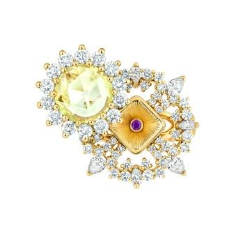 JSCR93004 - VOLUPTE DIAMANT JAUNE RING (1)