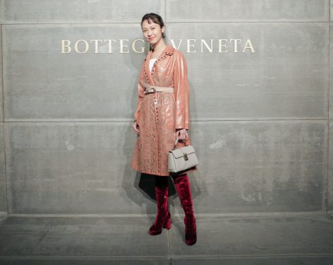 Anny Fan, At the Bottega Veneta Fall Winter 2018 show at the American Stock Exchange in New York City