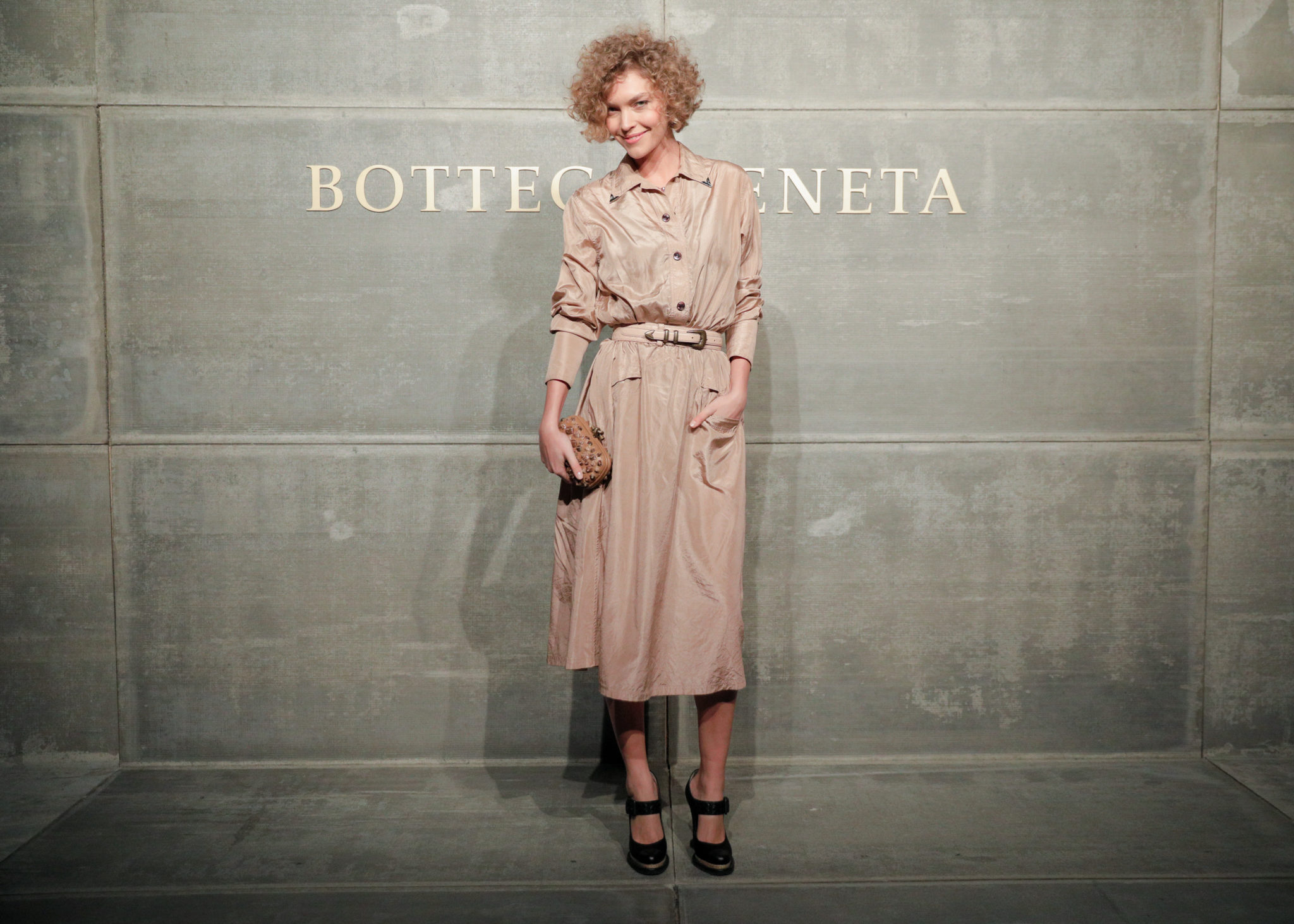 Arizona Muse, At the Bottega Veneta Fall Winter 2018 show at the American Stock Exchange in New York City