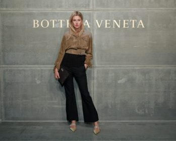 Camille Charriere, At the Bottega Veneta Fall Winter 2018 show at the American Stock Exchange in New York City