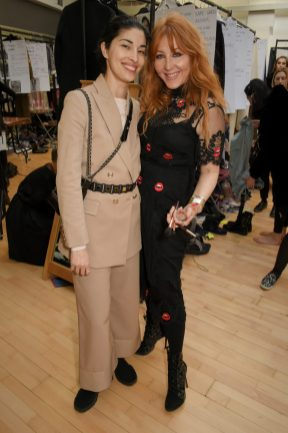 LONDON, ENGLAND - FEBRUARY 18: Caroline Issa and Charlotte Tilbury attend Temperley London Fashion Show Fall/Winter 18 during London Fashion Week at Seymour Leisure Centre on February 18, 2018 in London, England. (Photo by David M. Benett for Temperley London )