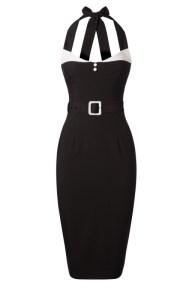 Glamour Bunny- Alice Pencil Dress Années 50 en Noir - EUR 119,95