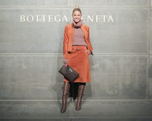 Helena Bordon, At the Bottega Veneta Fall Winter 2018 show at the American Stock Exchange in New York City