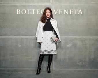 Ki Eun-Se, At the Bottega Veneta Fall Winter 2018 show at the American Stock Exchange in New York City