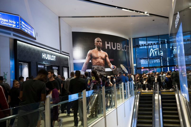 Launch of the Big Bang Unico TMT at Hublot Boutique Crystals in Las Vegas
