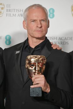 """LONDON, ENGLAND - FEBRUARY 18: Martin McDonagh, winner of the Best British Film award for """"Three Billboards Outside Ebbing, Missouri"""" pose in the press room during the EE British Academy Film Awards (BAFTA) held at Royal Albert Hall on February 18, 2018 in London, England. (Photo by David M. Benett/Dave Benett/Getty Images)"""