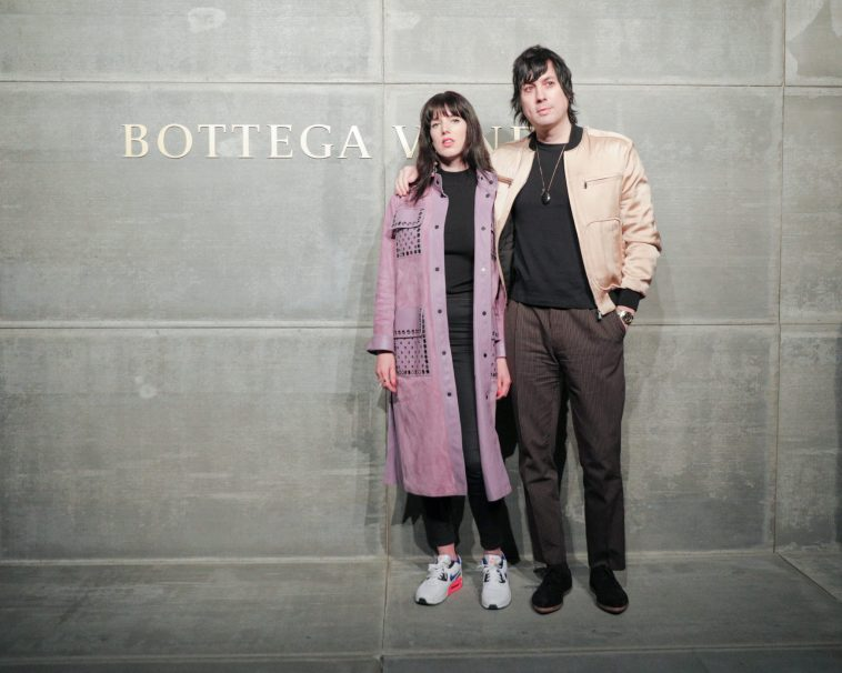 Megan Louise, Johnny Jewel, At the Bottega Veneta Fall Winter 2018 show at the American Stock Exchange in New York City