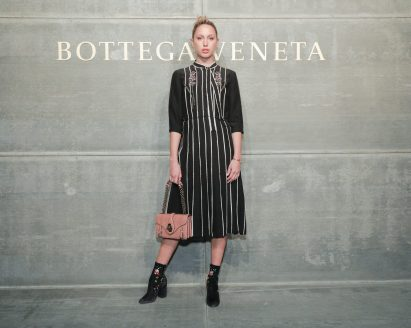 Princess Olympia of Greece, At the Bottega Veneta Fall Winter 2018 show at the American Stock Exchange in New York City
