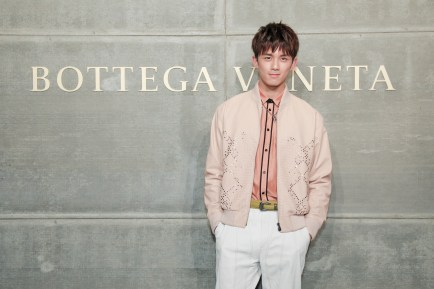 Lei Wu, At the Bottega Veneta Fall Winter 2018 show at the American Stock Exchange in New York City