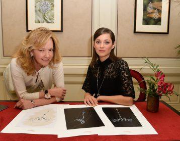 Caroline Scheufele and Marion Cotillard in 2015
