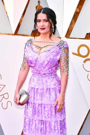 HOLLYWOOD, CA - MARCH 04: Salma Hayek attends the 90th Annual Academy Awards at Hollywood & Highland Center on March 4, 2018 in Hollywood, California. (Photo by Kevin Mazur/WireImage)