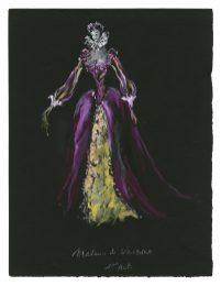 5 - Croquis de costume (non réalisé) pour la pièce La Reine Margot, 1953 © Fondation Pierre Bergé - Yves Saint Laurent _ Tous droits réservés