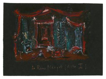 6 - Croquis de décor (non réalisé) pour la pièce La Reine Margot, 1953 © Fondation Pierre Bergé - Yves Saint Laurent _ Tous droits réservés