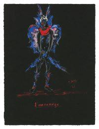 7 - Croquis de costume (non réalisé) pour la pièce Sodome et Gomorrhe de Jean Giraudoux, 1951 © Fondation Pierre Bergé - Yves Saint Laurent _ Tous droits réservés