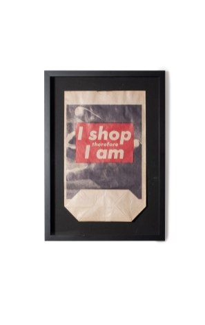 Barbara KRUGER, I shop therefore I am, 1990, Photolithographie en couleurs ©Artcurial