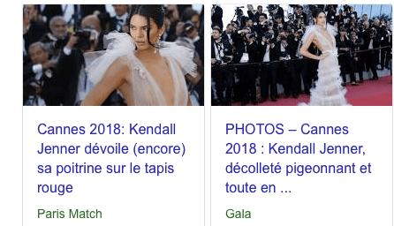 Kendall Jenner réduite à un décolleté...