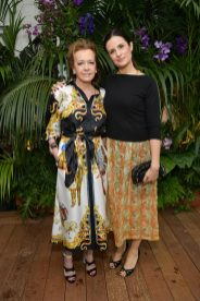 CANNES, FRANCE - MAY 13: Artistic Director and Co-President of Chopard, Caroline Scheufele (L) and Livia Firth attend the ladies luncheon announcing the new partnership between Chopard and the Naked Heart Foundation at Hotel Martinez on May 13, 2018 in Cannes, France. (Photo by Emma McIntyre/Getty Images)