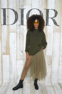 CHANTILLY, FRANCE - MAY 25: Tina Kunakey poses at a photocall during Christian Dior Couture S/S19 Cruise Collection on May 25, 2018 in Chantilly, France. (Photo by Pascal Le Segretain/Getty Images For Christian Dior) *** Local Caption *** Tina Kunakey