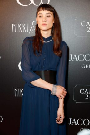 CANNES, FRANCE - MAY 16: Ëstrid Bergs-Frisbey attends the Jacob & Co Cannes 2018 party at Nikki Beach on May 16, 2018 in Cannes, France. Pic Credit: Dave Benett *** Local Caption *** Ëstrid Bergs-Frisbey