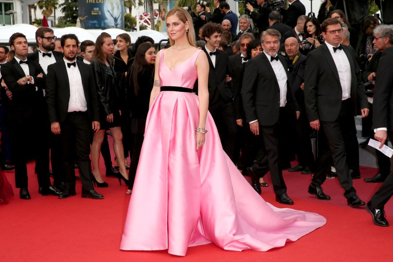 """CANNES, FRANCE - MAY 13: Chiara Ferragni attends the screening of """"Sink Or Swim (Le Grand Bain)"""" during the 71st annual Cannes Film Festival at Palais des Festivals on May 13, 2018 in Cannes, France. (Photo by Gisela Schober/Getty Images)"""