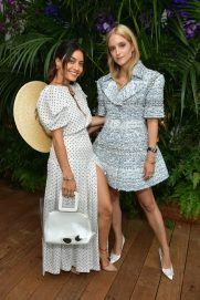 CANNES, FRANCE - MAY 13: Karen Wazen (L) and Charlotte Groeneveld attend the ladies luncheon announcing the new partnership between Chopard and the Naked Heart Foundation at Hotel Martinez on May 13, 2018 in Cannes, France. (Photo by Emma McIntyre/Getty Images)