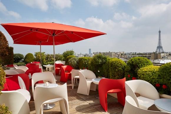 Terrasse Champagne Bar ©Hotel Raphael Paris