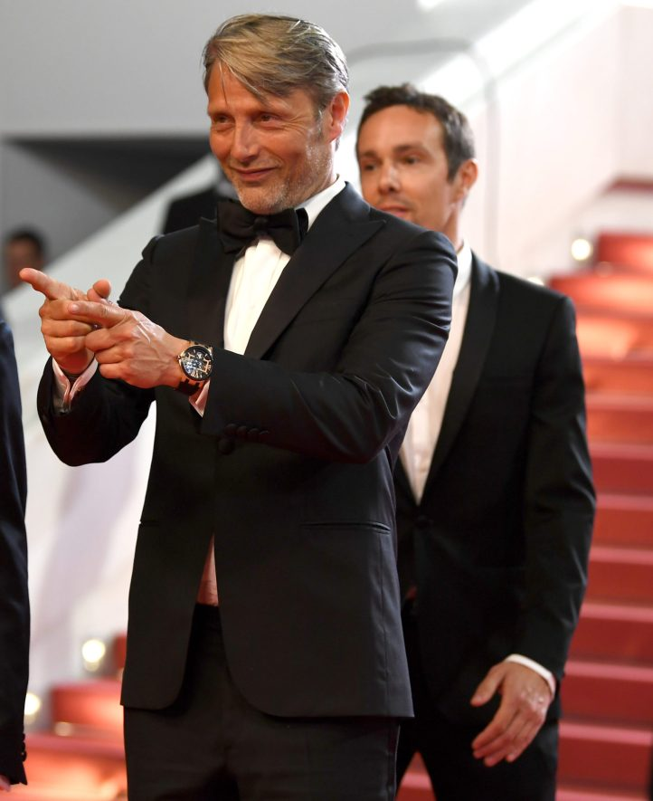 """CANNES, FRANCE - MAY 10: Director Joe Penna and actor Mads Mikkelsen attend the screening of """"Arctic"""" during the 71st annual Cannes Film Festival at Palais des Festivals on May 10, 2018 in Cannes, France. (Photo by Pascal Le Segretain/Getty Images)"""