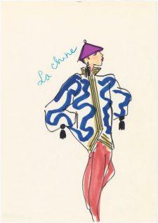 04 -Croquis d'illustration, Musée Yves Saint Laurent Paris © Fondation Pierre Bergé - Yves Saint Laurent _ Tous droits réservés