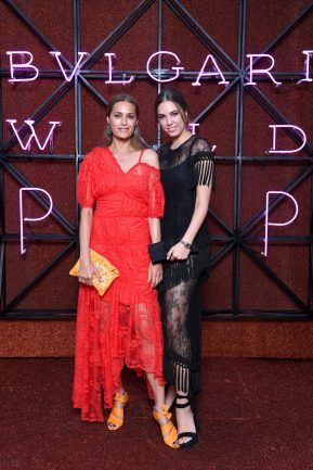 ROME, ITALY - JUNE 28: Yasmin Le Bon and Amber Le Bon attend BVLGARI Dinner & Party at Stadio dei Marmi on June 28, 2018 in Rome, Italy. (Photo by Daniele Venturelli/Daniele Venturelli/Getty Images for Bvlgari )