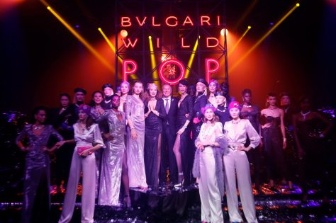 ROME, ITALY - JUNE 28: Jean-Christophe Babin and models after the runway BVLGARI Dinner & Party at Stadio dei Marmi on June 28, 2018 in Rome, Italy. (Photo by Ernesto S. Ruscio/Getty Images for Bvlgari)