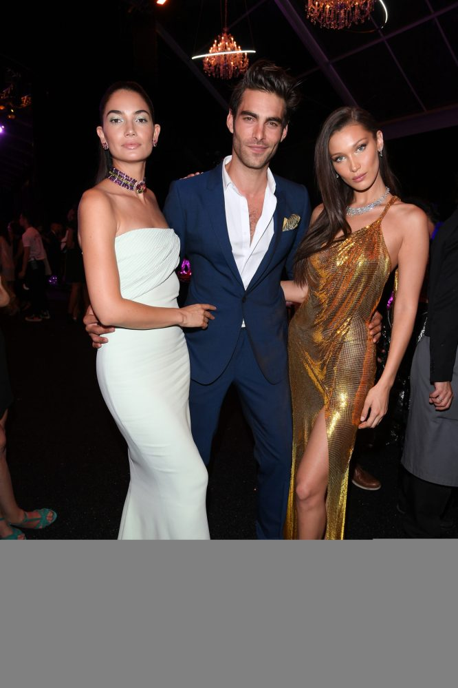 ROME, ITALY - JUNE 28: Lily Aldridge, Jon Kortajarena and Bella Hadid attend BVLGARI Dinner & Party at Stadio dei Marmi on June 28, 2018 in Rome, Italy. (Photo by Daniele Venturelli/Daniele Venturelli/Getty Images for Bvlgari )