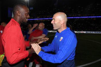 Usain et Zinedine Zidane crédit photo agence FEP