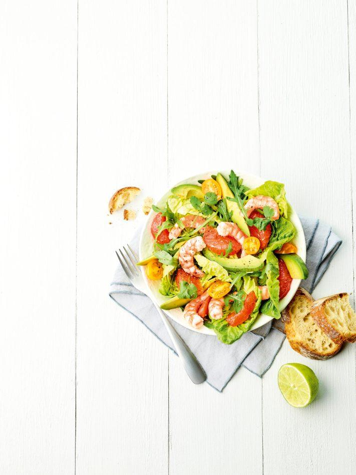 Salade avec pain