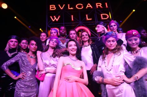 ROME, ITALY - JUNE 28: Lucia Silvestri and models after the runway BVLGARI Dinner & Party at Stadio dei Marmi on June 28, 2018 in Rome, Italy. (Photo by Franco Origlia/Getty Images for Bvlgari)