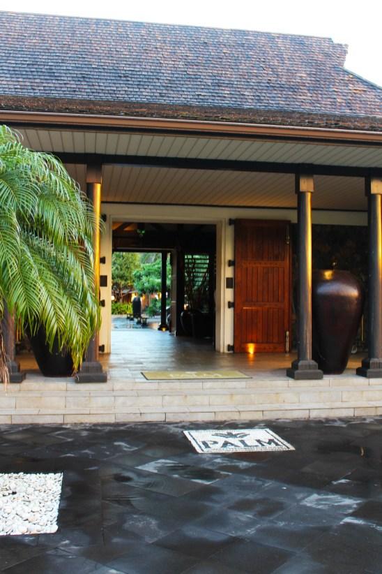 L'entrée du Palm Hotel & Spa.