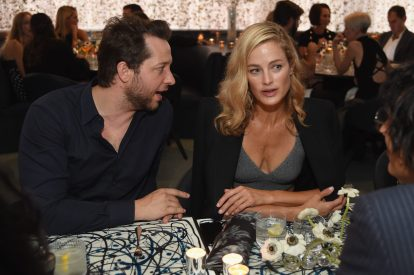 NEW YORK, NY - SEPTEMBER 12: Derek Blassberg and Carolyn Murphy attend the Michael Kors x 10 Corso Como Dinner at 10 Corso Como on September 12, 2018 in New York City. (Photo by Larry Busacca/Getty Images for Michael Kors)