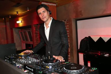 MUNICH, GERMANY - SEPTEMBER 13: DJ Graziano Della Nebbia performs during the Boutique Trunk Show & Giorgio's after party at Parkcafe on September 13, 2018 in Munich, Germany. (Photo by Gisela Schober/Getty Images for Giorgio Armani)