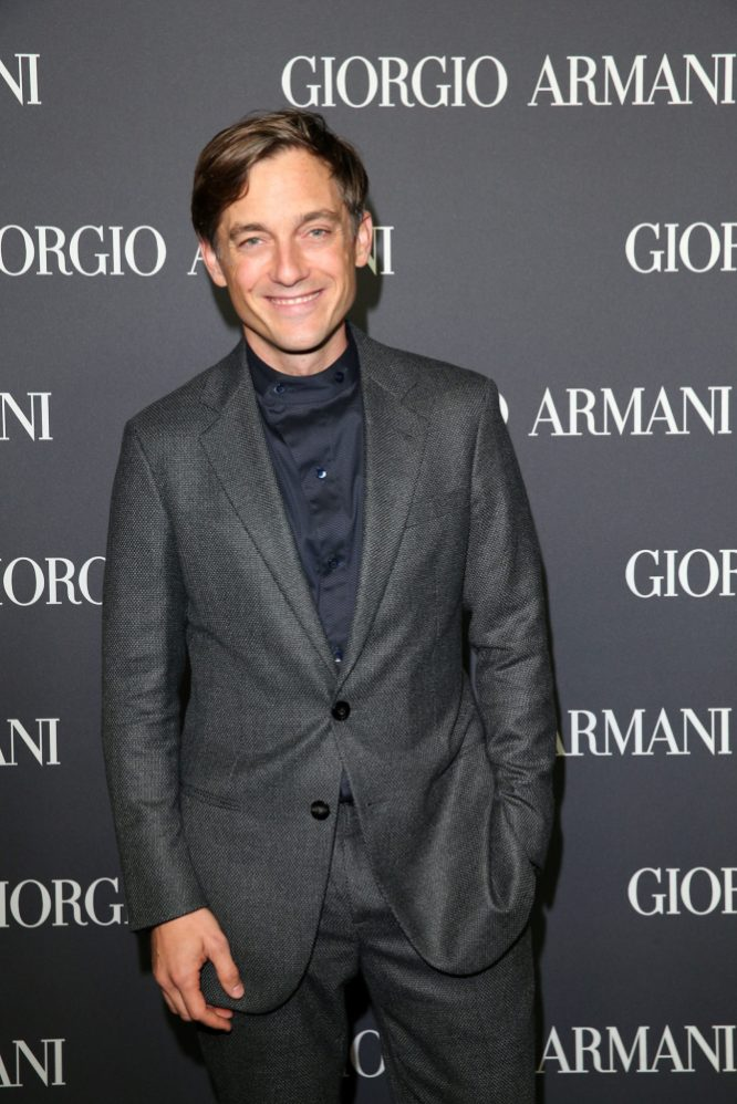 MUNICH, GERMANY - SEPTEMBER 13: Volker Bruch during the Boutique Trunk Show & Giorgio's after party at Parkcafe on September 13, 2018 in Munich, Germany. (Photo by Gisela Schober/Getty Images for Giorgio Armani)