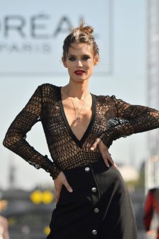 PARIS, FRANCE - SEPTEMBER 30: Model Bianca Balti walks the runway during Le Defile L'Oreal Paris as part of Paris Fashion Week Womenswear Spring/Summer 2019 on September 30, 2018 in Paris, France. (Photo by Victor Boyko/Getty Images for L'Oreal Paris)