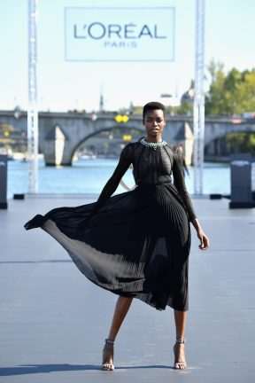 PARIS, FRANCE - SEPTEMBER 30: Maria Borges walks the runway during Le Defile L'Oreal Paris as part of Paris Fashion Week Womenswear Spring/Summer 2019 on September 30, 2018 in Paris, France. (Photo by Pascal Le Segretain/Getty Images for L'Oreal Paris)
