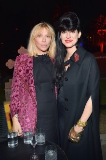 HOLLYWOOD, CA - NOVEMBER 02: Courtney Love (L) and Floria Sigismondi attend Gucci Guilty Launch Party at Hollywood Forever on November 2, 2018 in Hollywood, California. (Photo by Donato Sardella/Getty Images for GUCCI)
