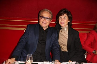 Sylvie Rousseau et Orlando lors de la soiree d'inauguration du restaurant Roxie a Paris, France, le 27 Novembre 2018. Photo by Jerome Domine/ABACAPRESS.COM