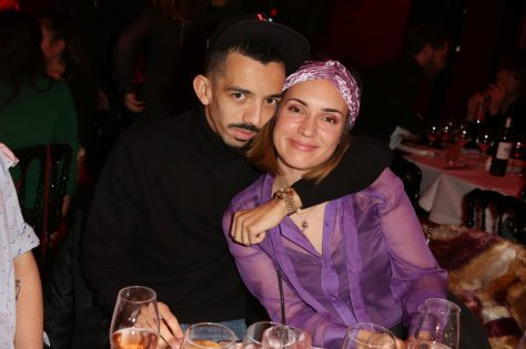 Big Flo et Natoo lors de la soiree d'inauguration du restaurant Roxie a Paris, France, le 27 Novembre 2018. Photo by Jerome Domine/ABACAPRESS.COM