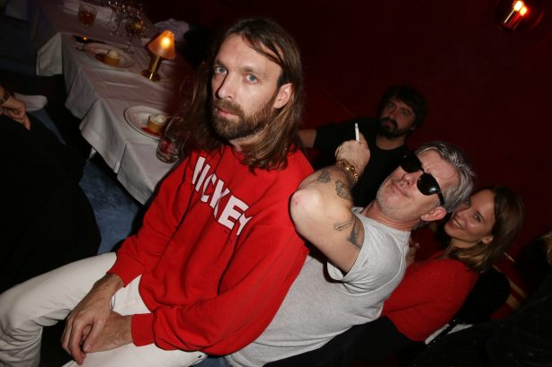Thibaut Berland (Breakbot) et Kavinsky lors de la soiree d'inauguration du restaurant Roxie a Paris, France, le 27 Novembre 2018. Photo by Jerome Domine/ABACAPRESS.COM