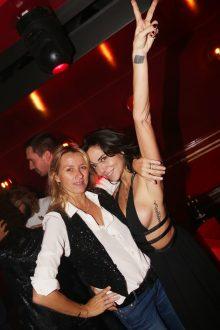 Sarah Lavoine et Sandra Sisley lors de la soiree d'inauguration du restaurant Roxie a Paris, France, le 27 Novembre 2018. Photo by Jerome Domine/ABACAPRESS.COM